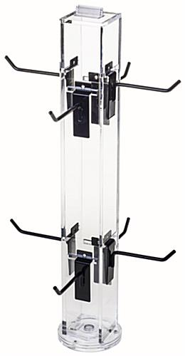 "4"" Hook Black Counter Spinner Rack w/o Props"