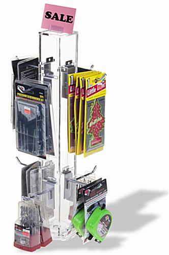 "4"" Hook Silver Counter Spinner Rack w/ Props"