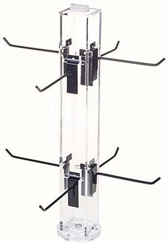 "6"" Hook Black Counter Spinner Rack w/o Props"