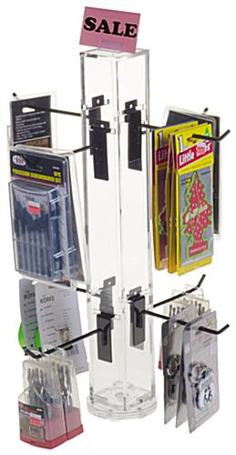 "6"" Hook Black Counter Spinner Rack with Props"