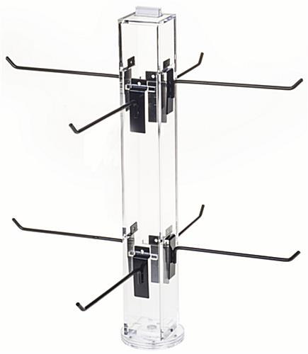 "8"" Hook Black Counter Spinner Rack w/o Props"