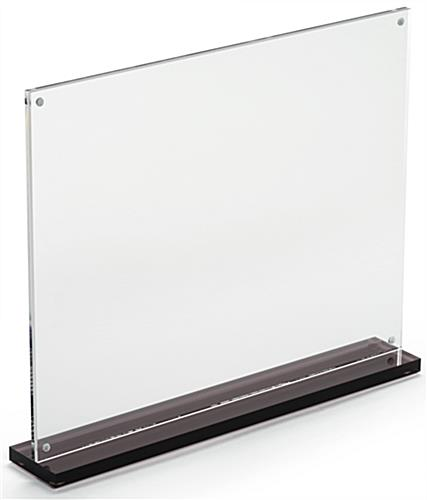 11 x 8.5 Thick Plastic Upright with Magnetic Closures