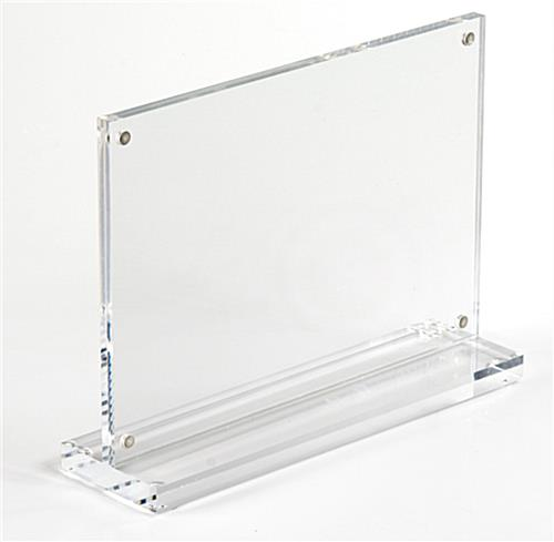 The Acrylic Picture Frame is Made of Clear Plastic and Held Together ...