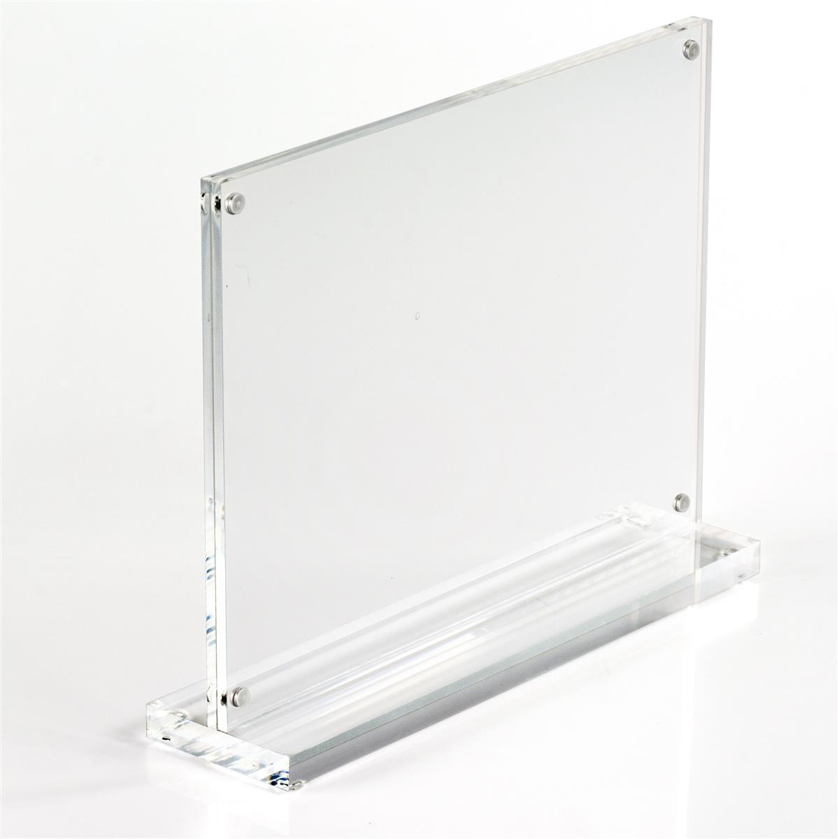 Stand Up Picture Frame Countertop W Magnetized Enclosure