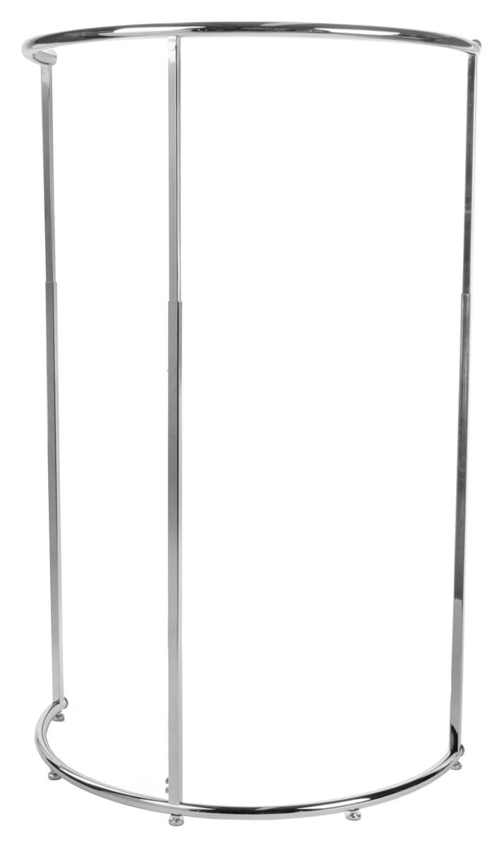 """Displays2go Half Round Clothing Rack with 42"""" Hang Rail -..."""