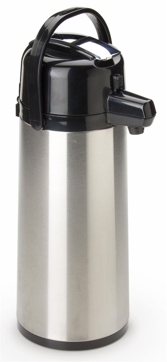 Coffee Air Pot Glass Lined Insulated Dispenser