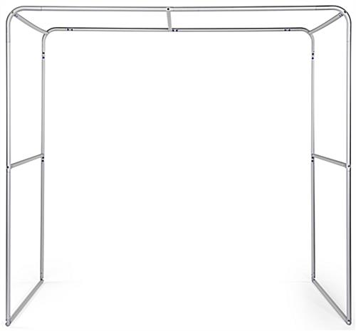 Custom square trade show booth arch with lightweight aluminum frame