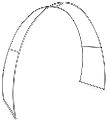 Personalized oval trade show archway with quick assembly