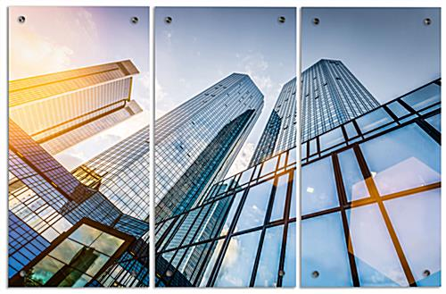 "Skyscraper Acrylic Photo Panels, 30"" Overall Height"