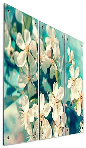 Full Color Floral Triptych