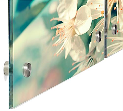 Wall Mounted Floral Triptych