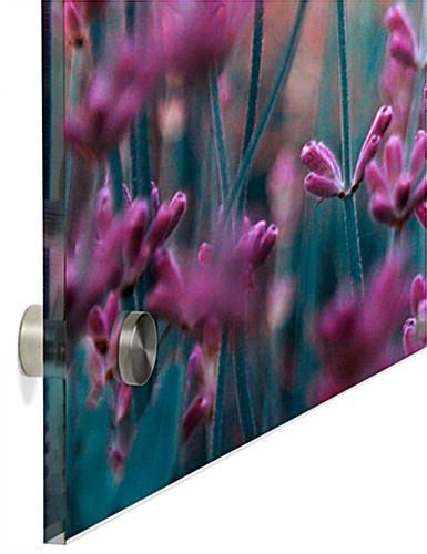 Wall Mounted Lavender Acrylic Panel Print