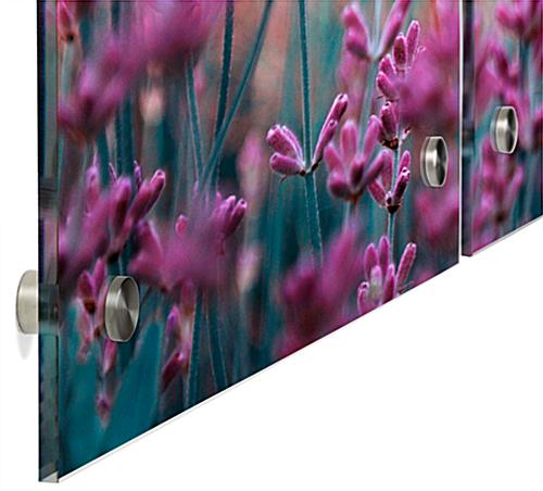 Wall Mounted Lavender Triptych Photograph