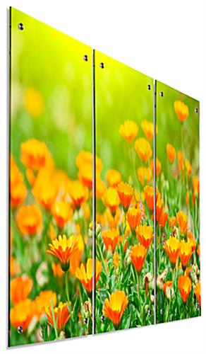 Full Color Floral Acrylic Wall Art Panels