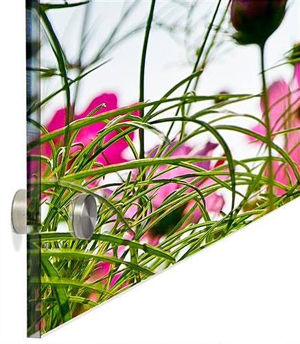 Floral Photo Acrylic Wall Art with Included Hardware