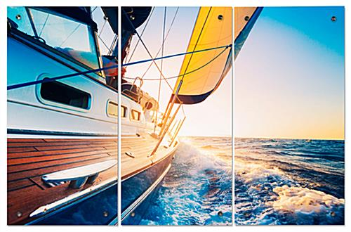 Scenic Sailboat Triptych
