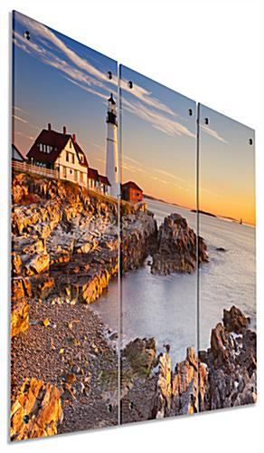 Lighthouse Triptych with Metal Standoffs