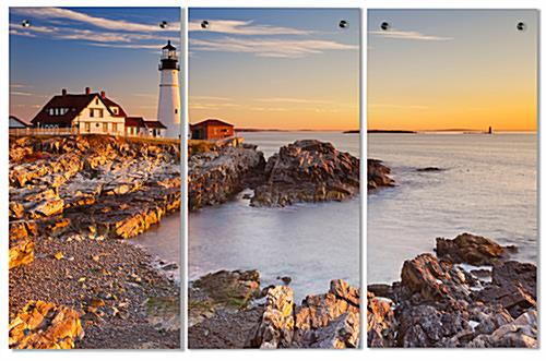 UV Printed Lighthouse Triptych