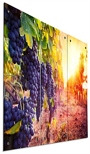 Wall Mounted Wine Triptych