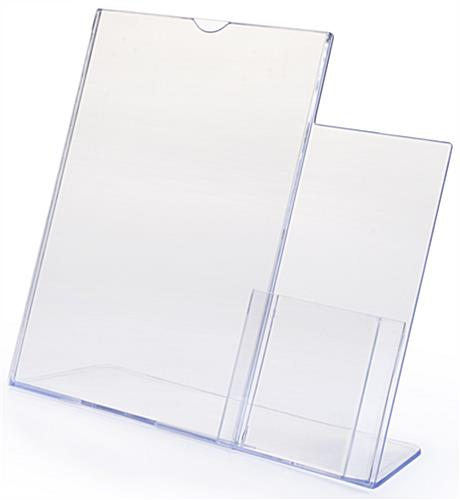 Clear Plastic Sign Frames W Adjacent Leaflet Holder