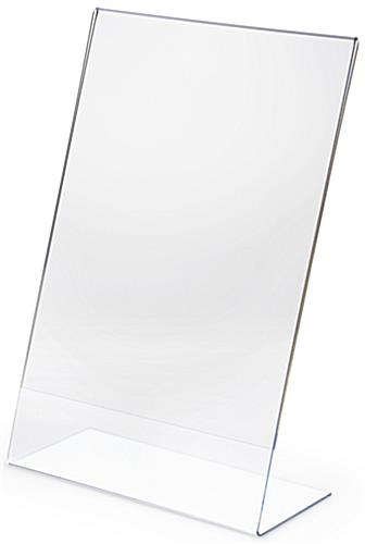 Angled Sign Holder W Clear Design Fits 11 X 17 Prints