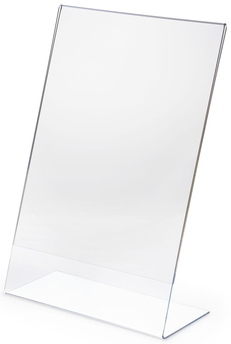 Angled Sign Holder W Clear Design Fits 11 Quot X 17 Quot Prints
