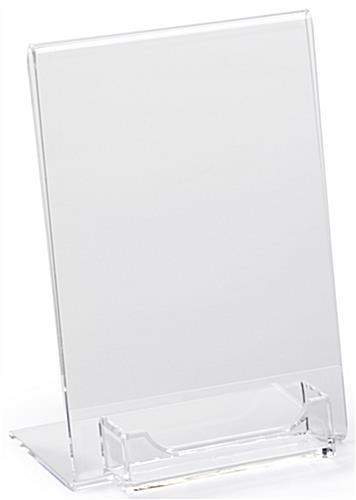 Acrylic Business Card Display with Sign Holder for Promotions