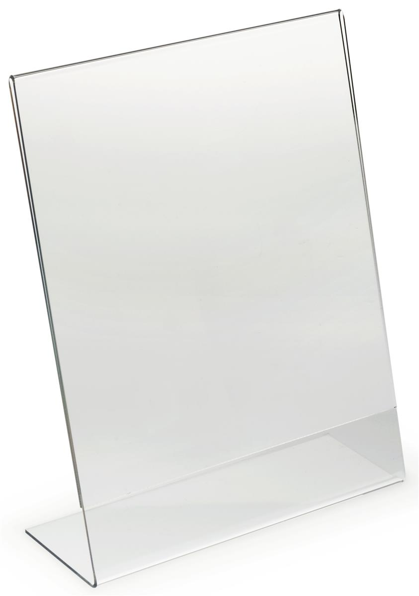 85 x 11 acrylic display frame sign holder w polished edges