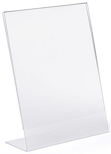 Countertop slant back non glare acrylic sign frame