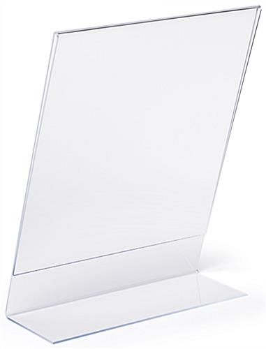 Tabletop slant back non glare acrylic sign frame