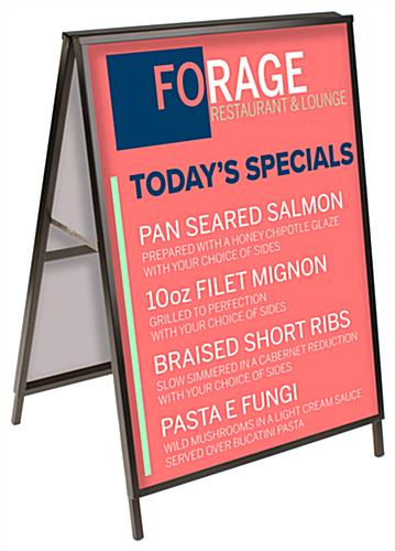 Outdoor large metal a-frame sign