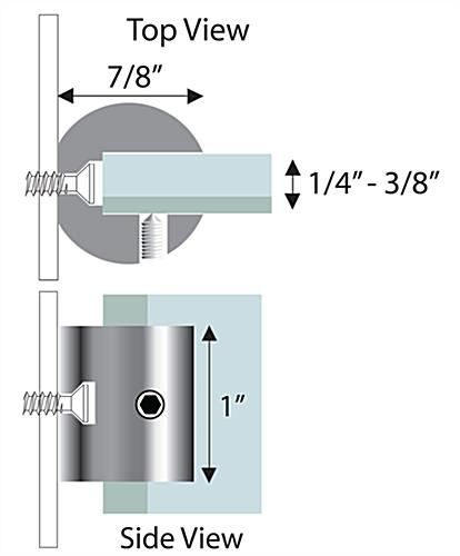Standoff Bracket For Holding Signs At A Perpendicular Angle