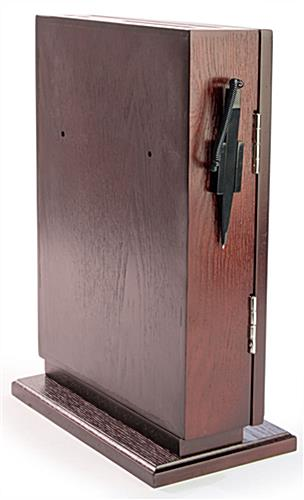 Red Mahogany Wall Mounted Ballot Box