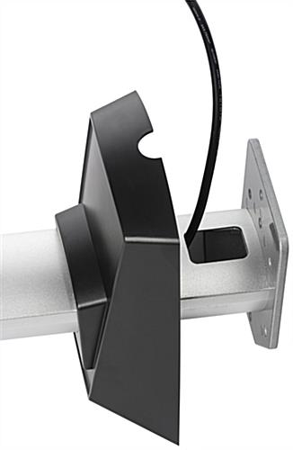 Telescoping Tv Arm : Projector wall mount silver aluminum and cable management
