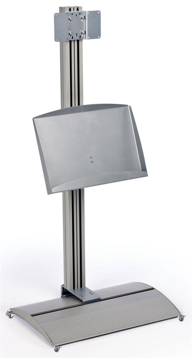4 Tall Tv Stand W Metal Storage Pocket