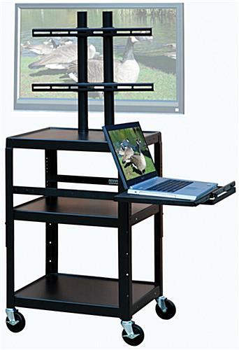 "Mobile AV Cart For Mounting Up To A 46"" Plasma Screen"