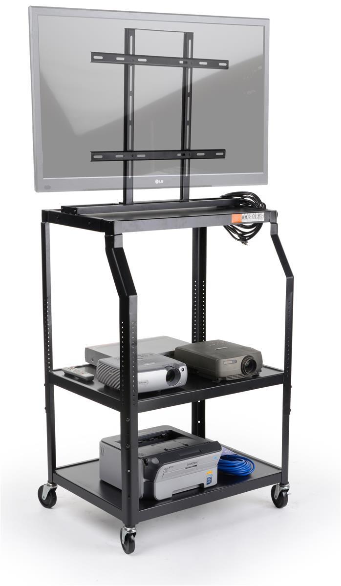 Audio Visual Cart w/ Built-In Plasma Mount & Height Adjustable Design