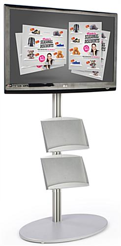 Plasma TV Stand With (2) Metal Trays And Tilt Mount
