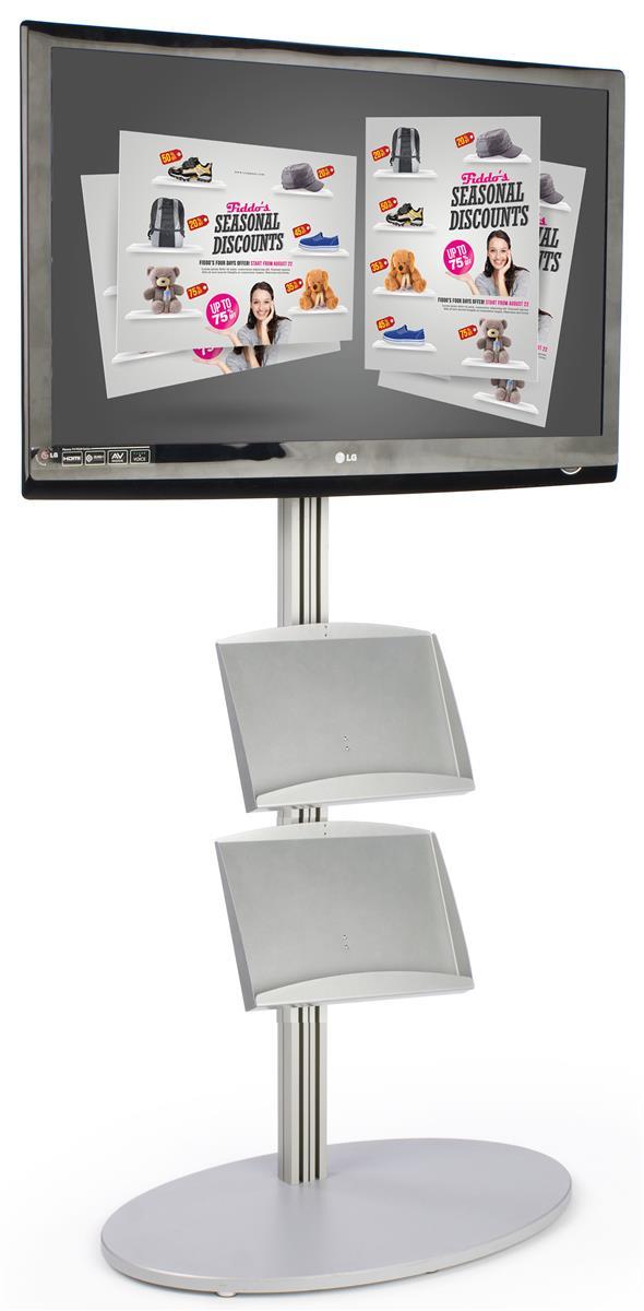 """Displays2go TV Floor Stand Fits 32"""" to 42"""" Monitors, Tilt..."""
