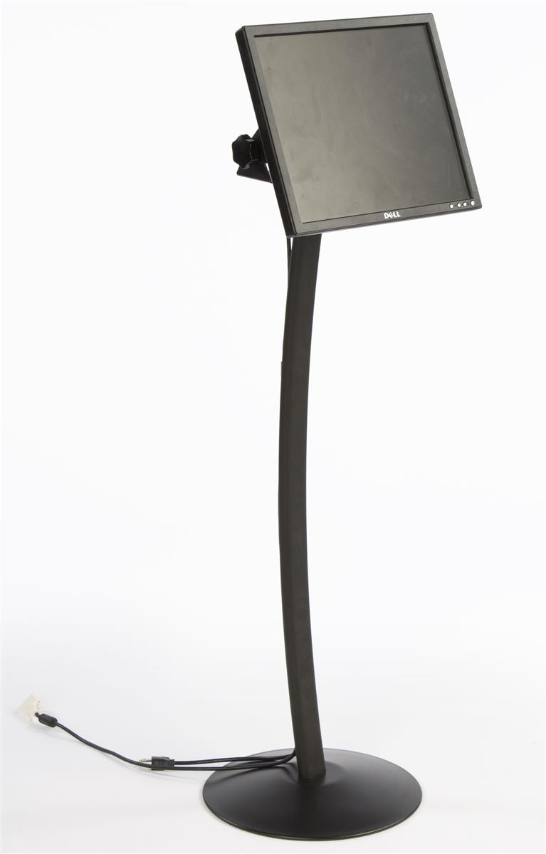 Lcd Stand With Curved Pople Design Black