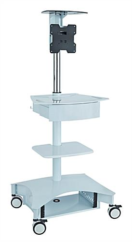Hospital Computer Cart with Bracket for Single Display
