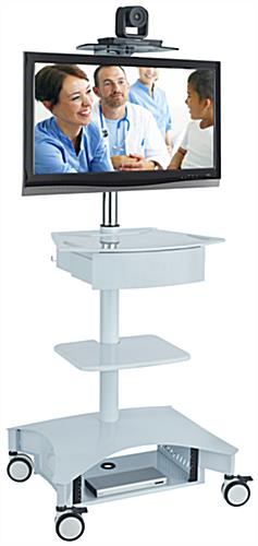 "Hospital Computer Cart Supports Single 32"" Display"