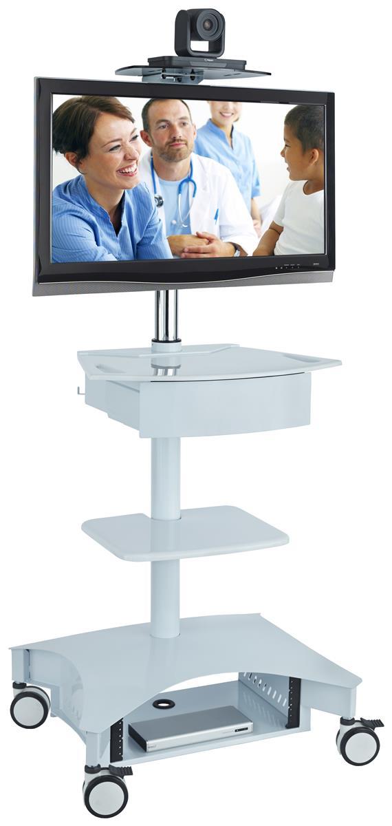 Hospital Computer Cart Adjustable Camera Platform