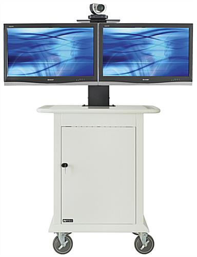 "Video Conferencing Trolley Fits (2) 32"" Displays"