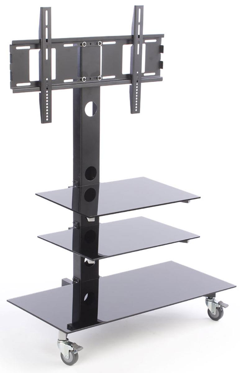 plasmtv stand with black glass shelves lcd television stands. Black Bedroom Furniture Sets. Home Design Ideas