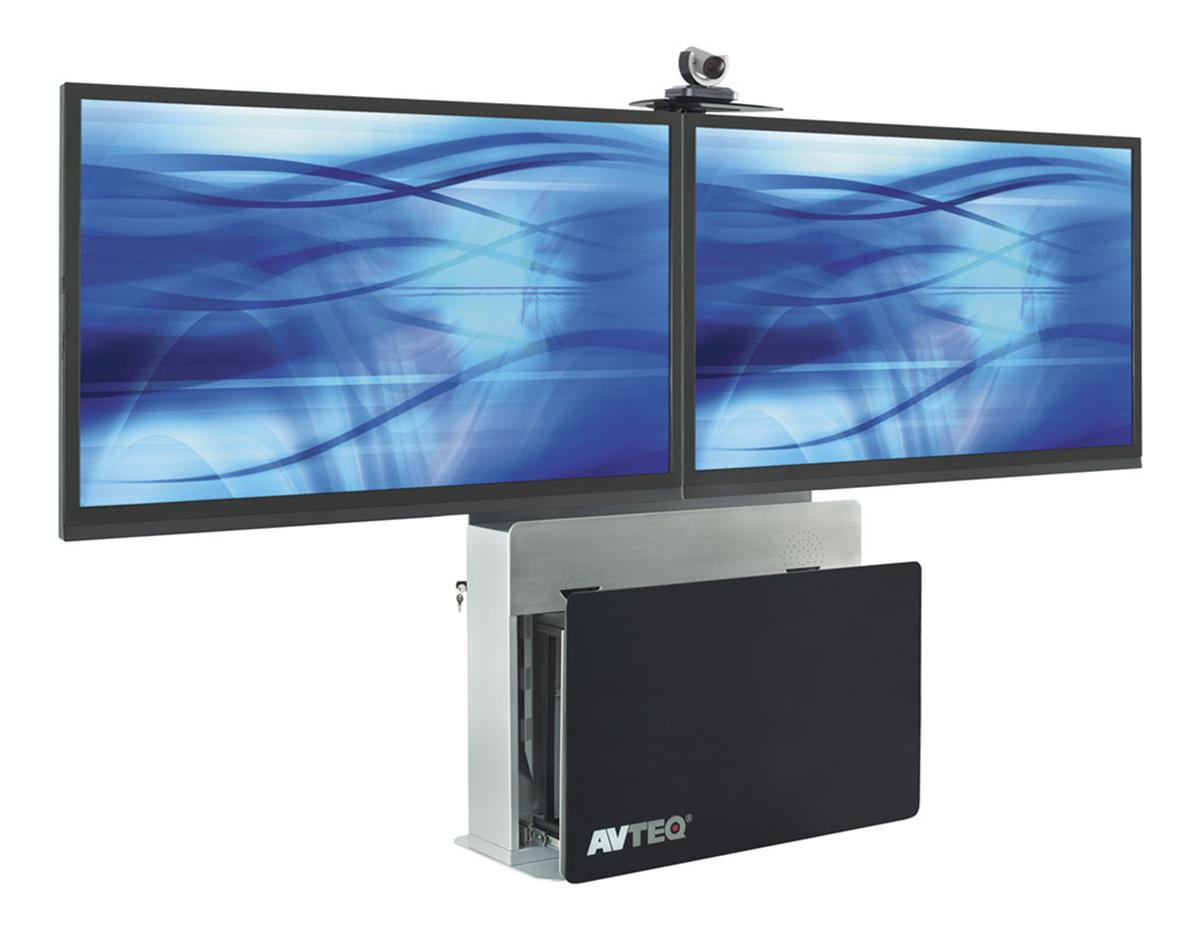 Lcd Floor Stand Video Conferencing Cart W Dual Mounting