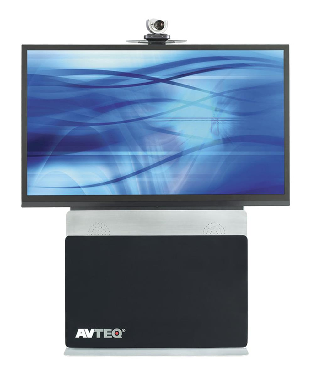 "Displays2go TV Stand for Floor fits 42"" to 80"" Monitors, ..."