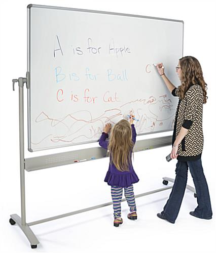Reversible Whiteboard for Learning Centers