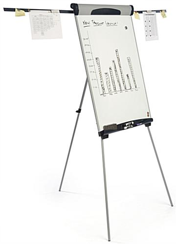 Silver Height Adjustable Dry-Erase Board