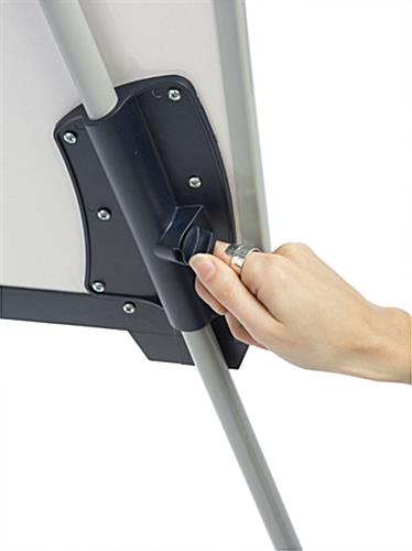 Height Adjustable Dry-Erase Board with Modifiable Legs
